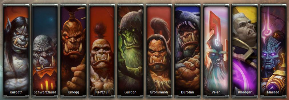 Hauptcharaktere Warlords of Draenor