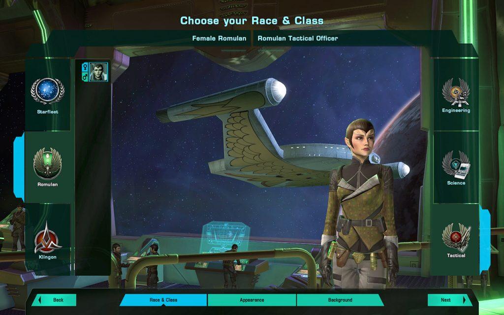 Charaktereditor Star Trek Online