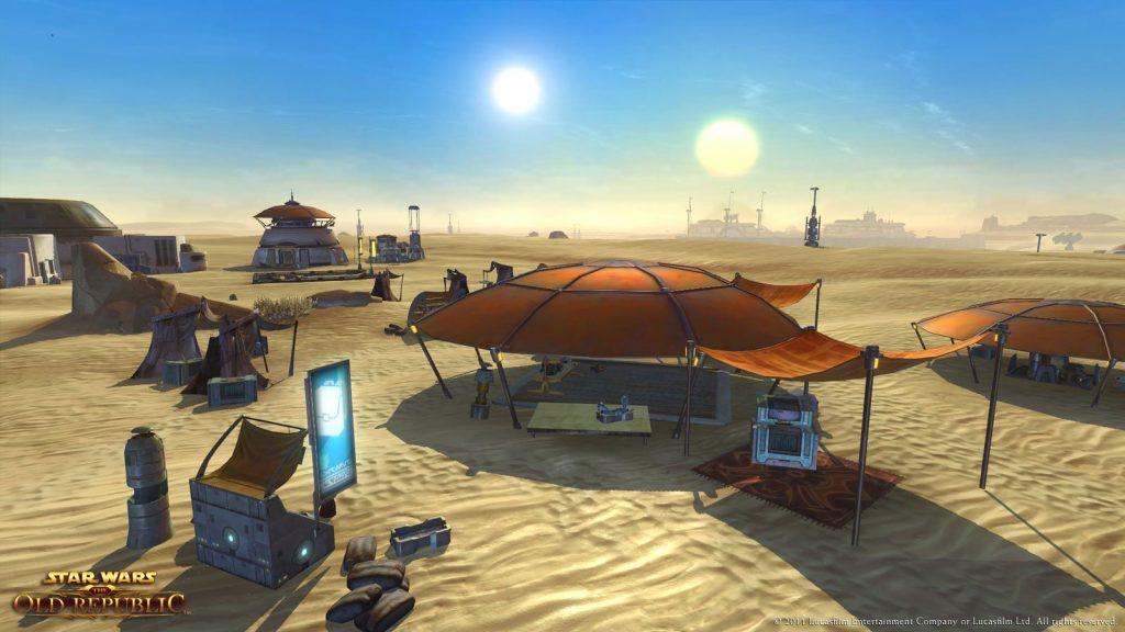 Ein Lager auf Tatooine