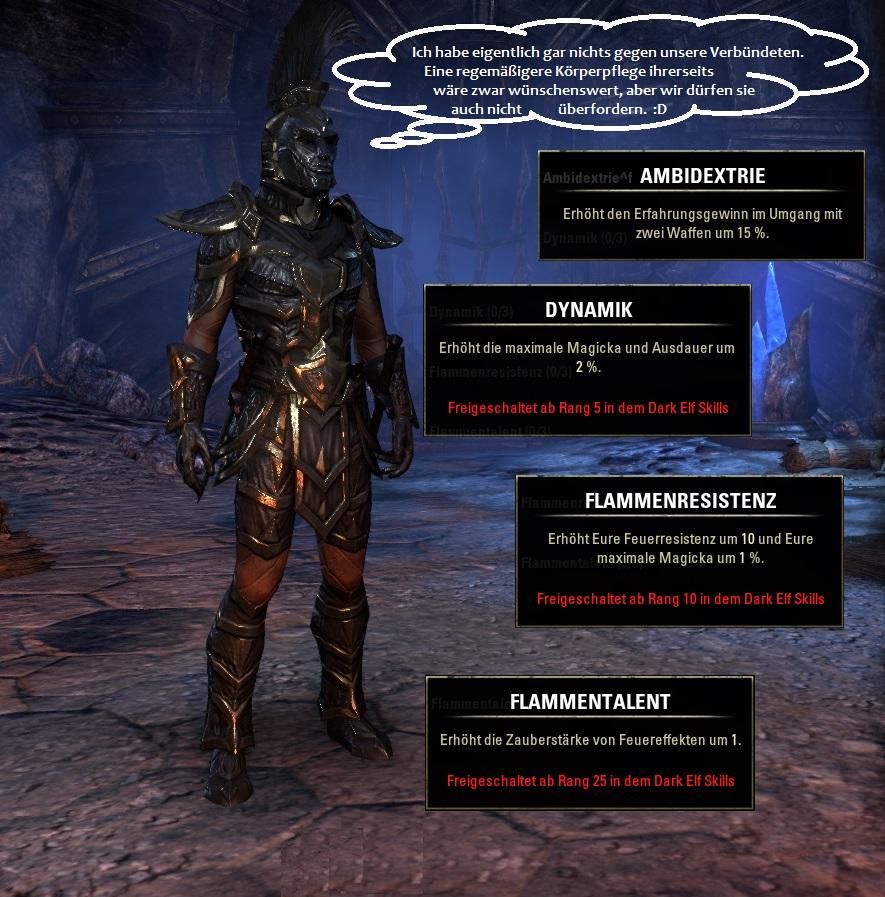 Rasse in Elder Scrolls Online: Dunkelelfen