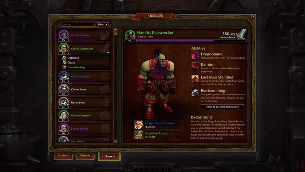Warlords of Draenor: Follower
