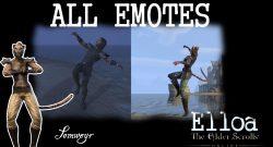 The Elder Scrolls Online Emotes