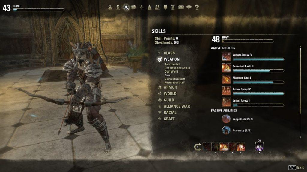 The Elder Scrolls Online: Skillung