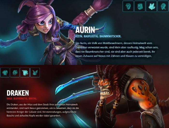 WildStar: Aurin und Draken