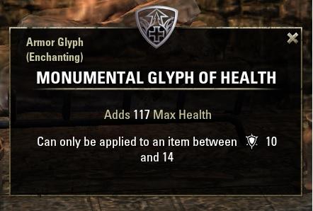 TESO Glyphe