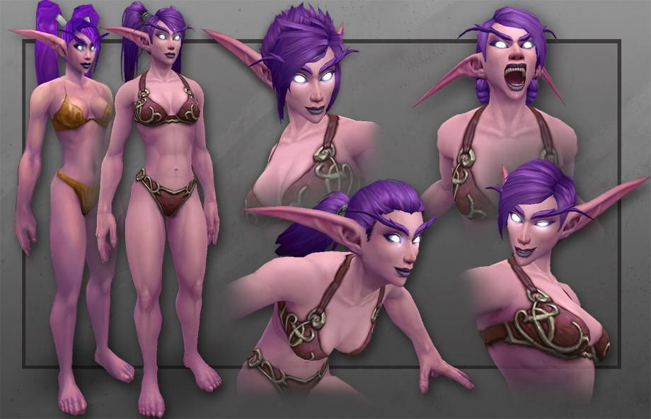 World of Warcraft: Nachtelfen Animationen