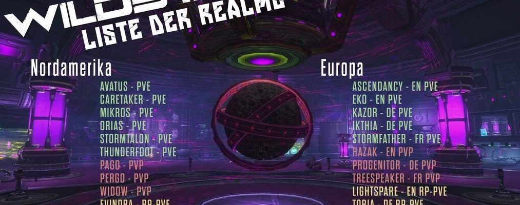 WildStar: 4 deutsche Realms in der Server-Liste zum Start