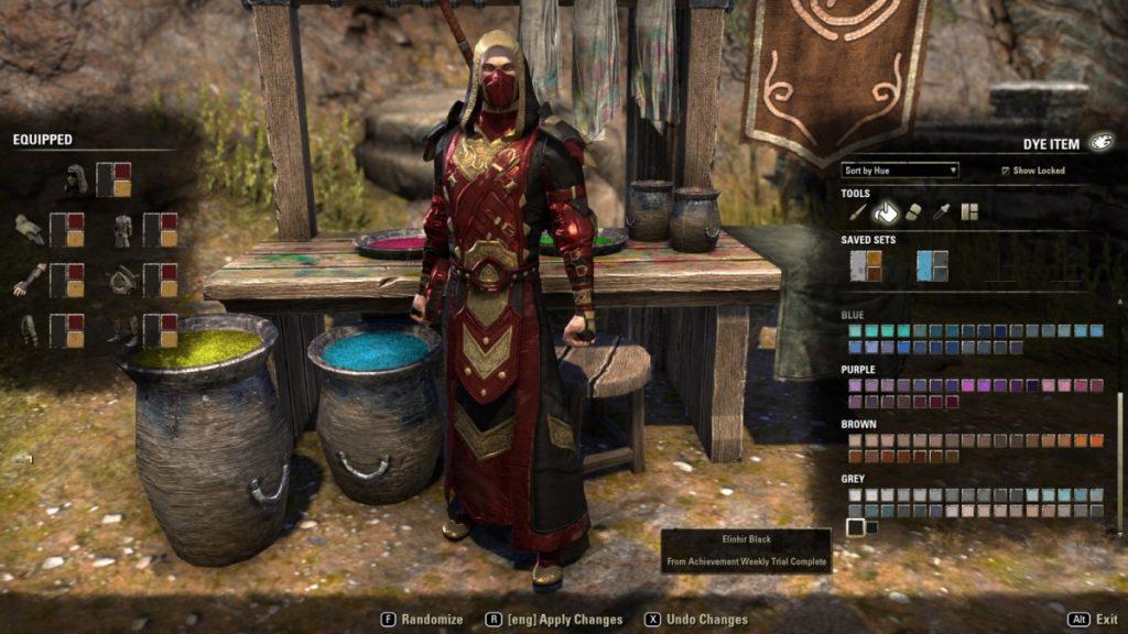 The Elder Scrolls Online: Rüstung färben