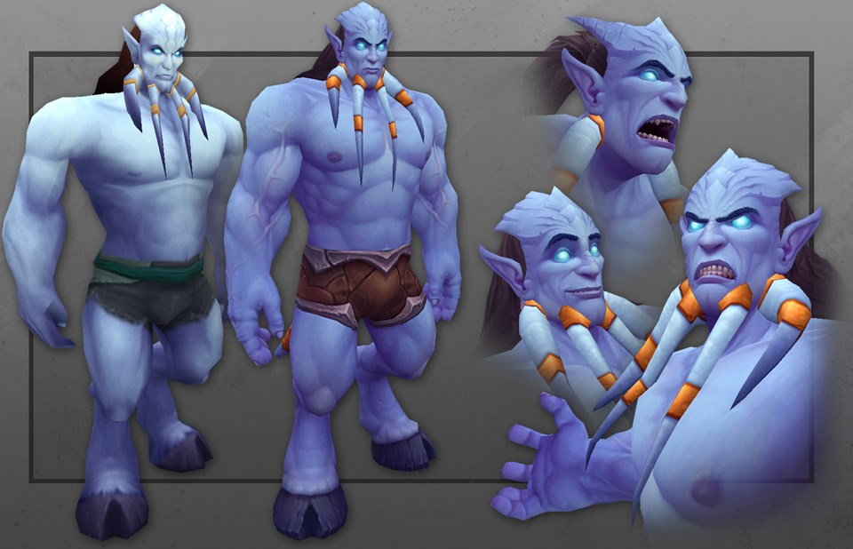 World of Warcraft: Animationen der männlichn Draenei