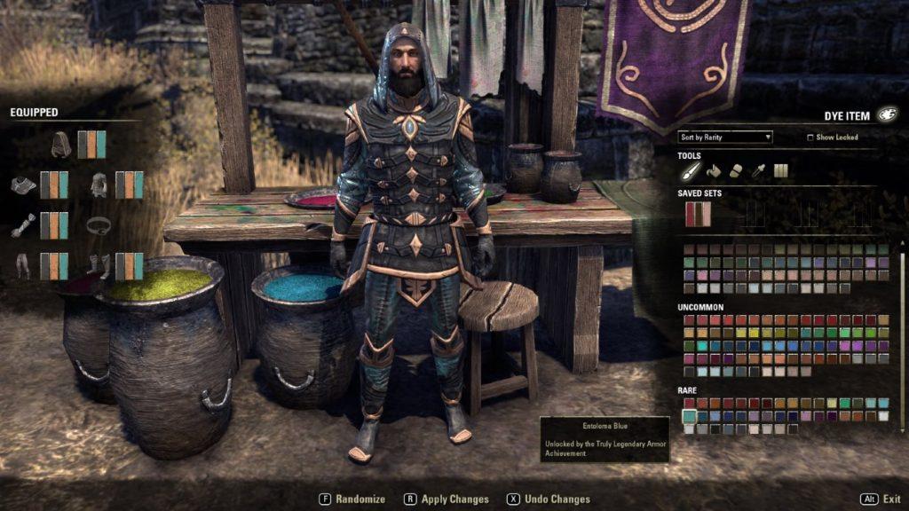 The Elder Scrolls Online Farbmenü