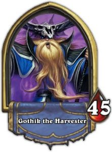 Hearthstone Boss Gothik the Harvester Gold