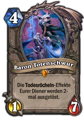 Hearthstone Karte Baron Totenschwur