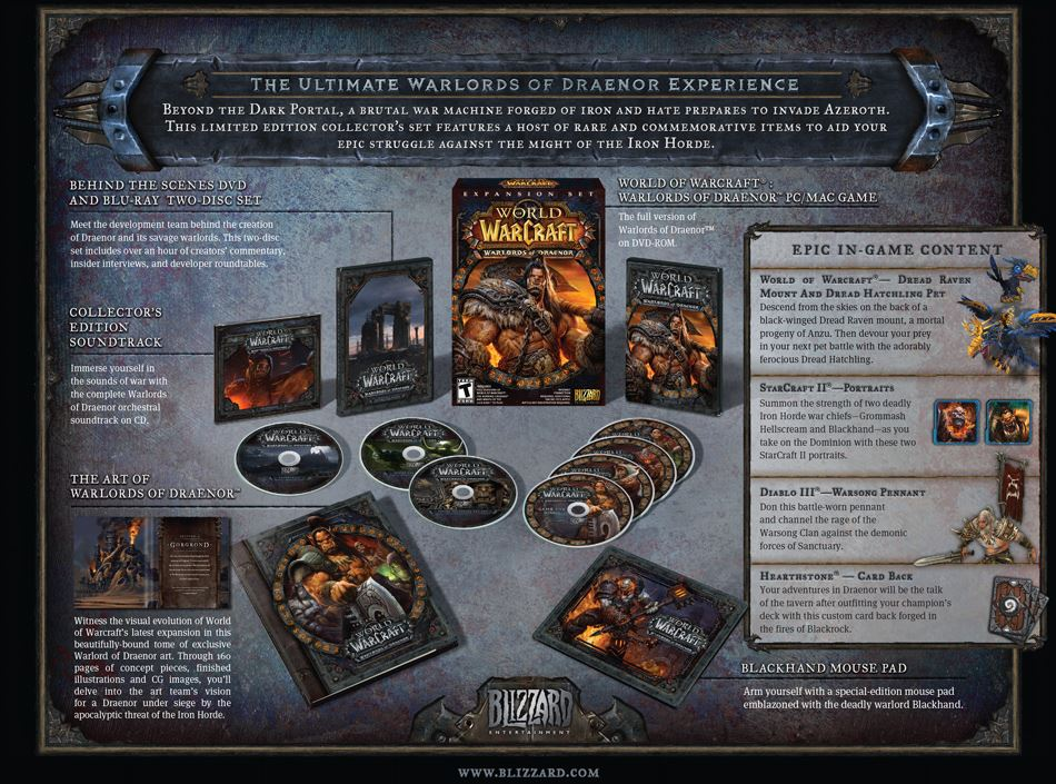 Warlords of Draenor Collectors Edition
