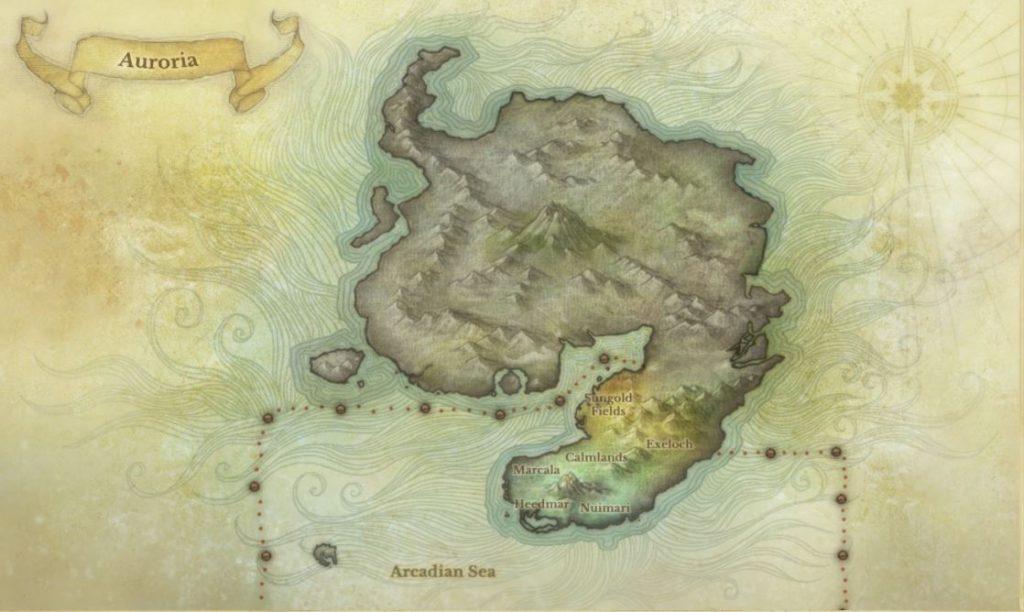 Auroria Karte