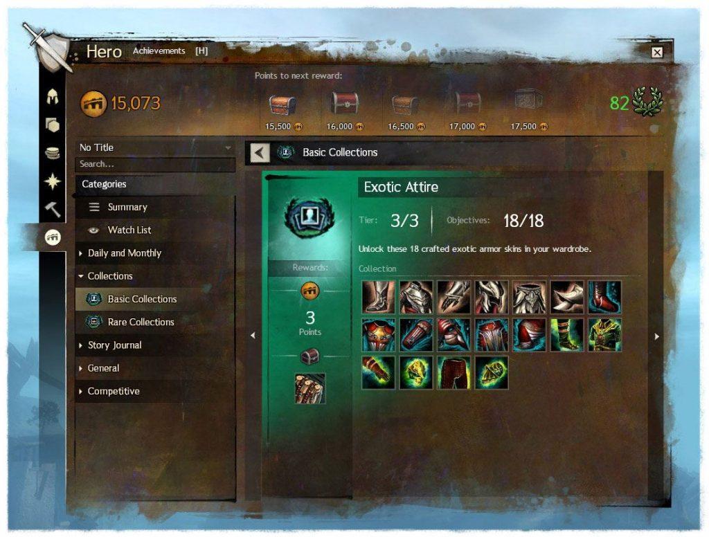Guild Wars 2 Freischaltungen