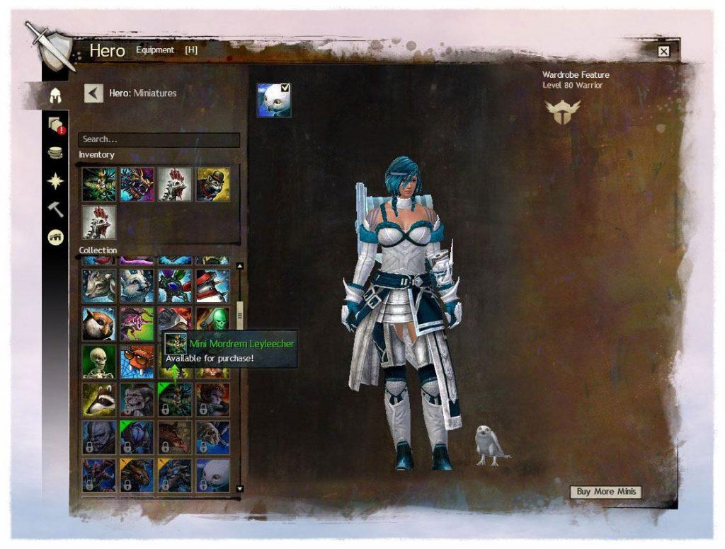 Guild Wars 2 - Miniaturen in der Gardedrobe