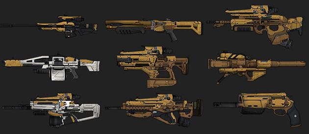 Destiny-Neun-Waffen