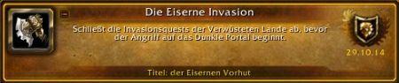 Die Eiserne Invasion Titel - WoW