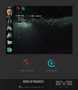 Schnellreise UI Eve Online