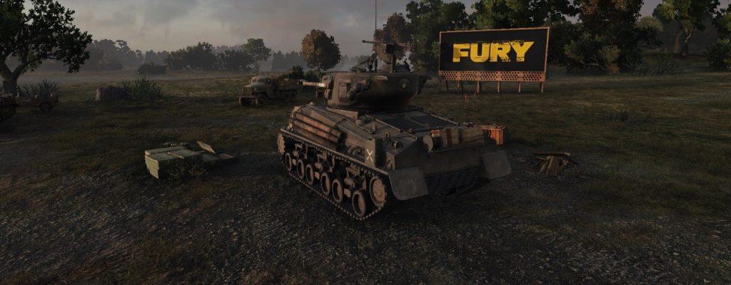 """World of Tanks feiert neuen Brad-Pitt-Film """"Herz aus Stahl"""" mit Sherman-Panzer"""