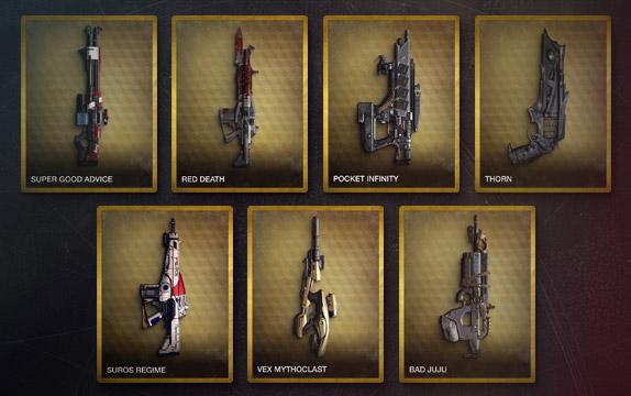 Destiny-Waffenauswahl