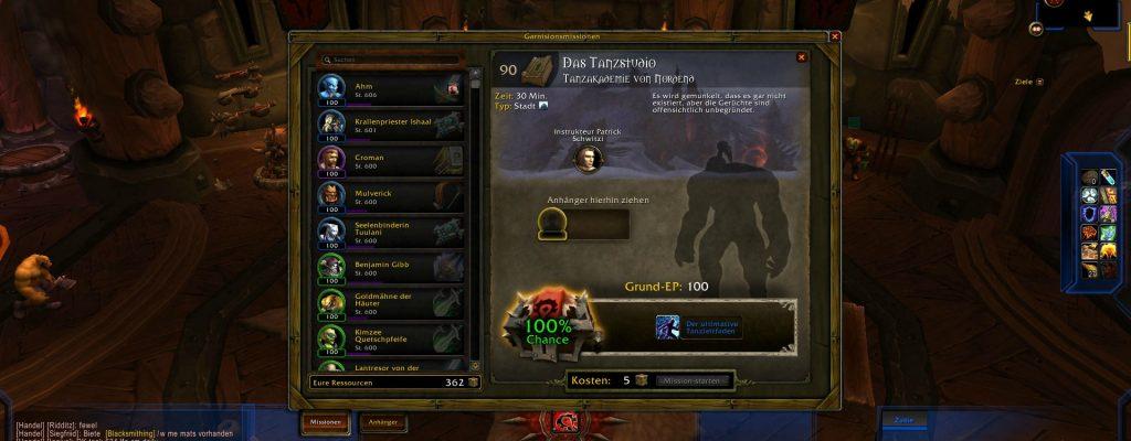 World of Warcraft: Vorsicht bei Tanzleitfaden, Strategieführer und Umschulungszertifikat