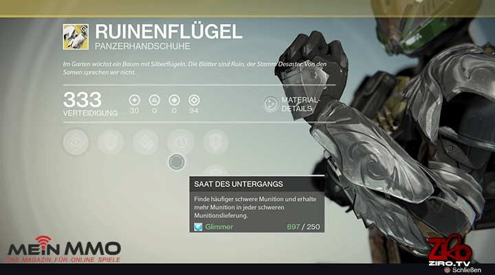 Destiny: Titanen lieben exotische DLC-Handschuhe Ruinenflügel