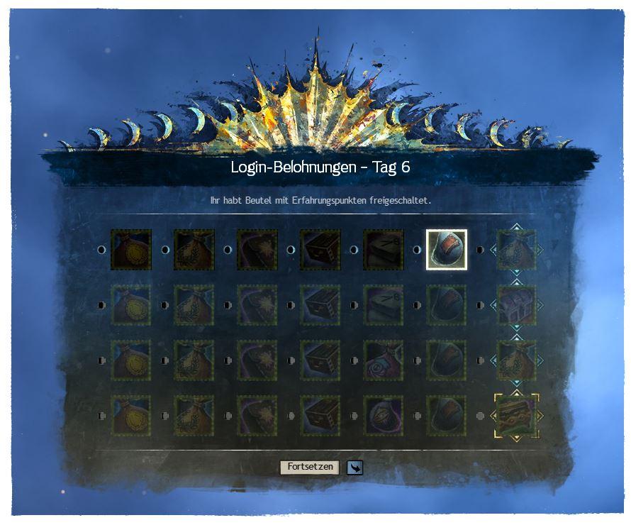 Guild Wars 2 Login Belohnungen