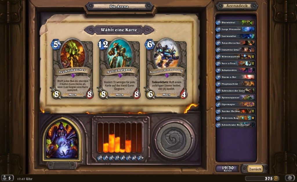 Hearthstone Arena Deck