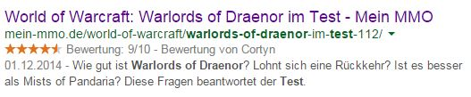 Warlords of Draenor Test Bewertung