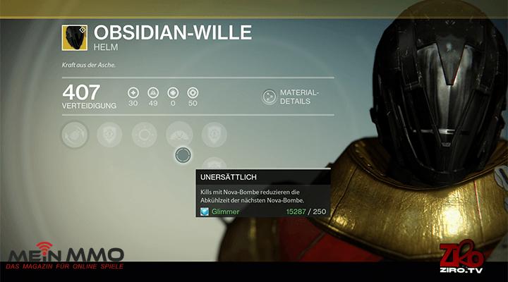 Destiny: Ist der Obsidian-Wille das beste exotische Rüstungsteil für Leereläufer-Warlocks?