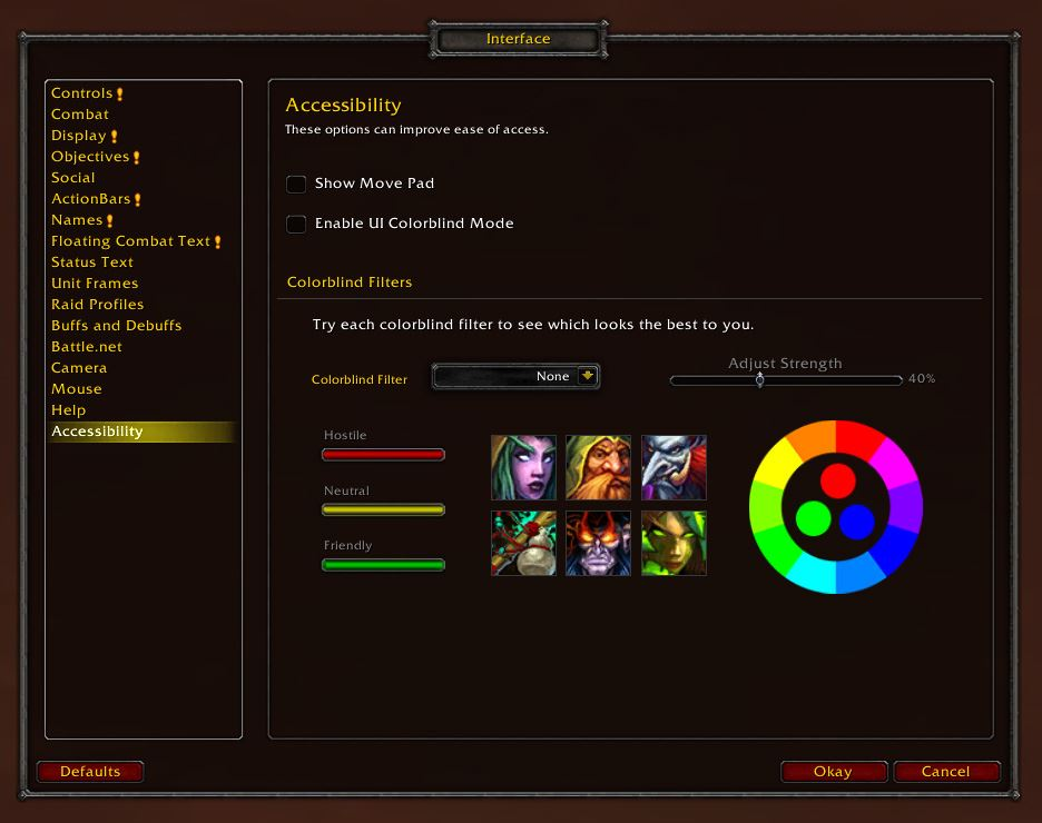 WoW Colorblind UI