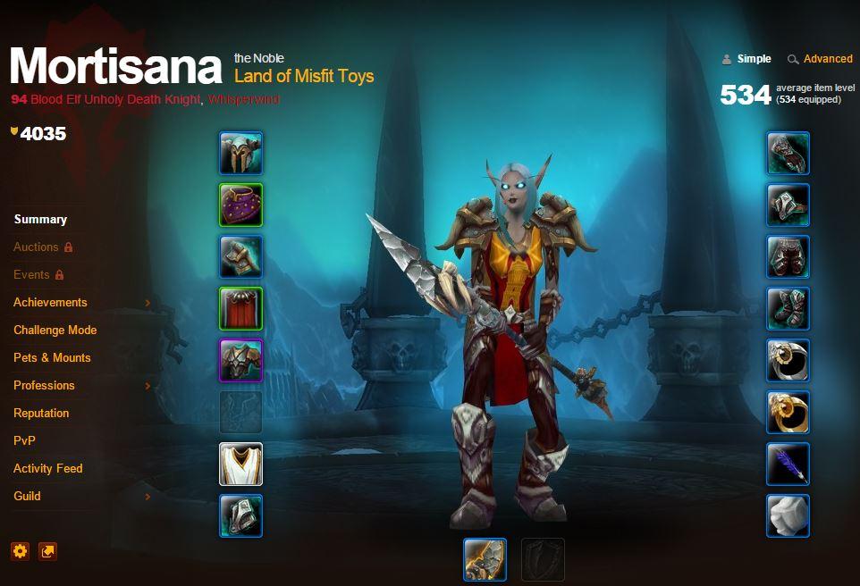 World of Warcraft Mortisana