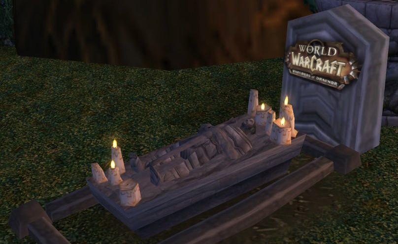 World of Warcraft tot - Grabstein