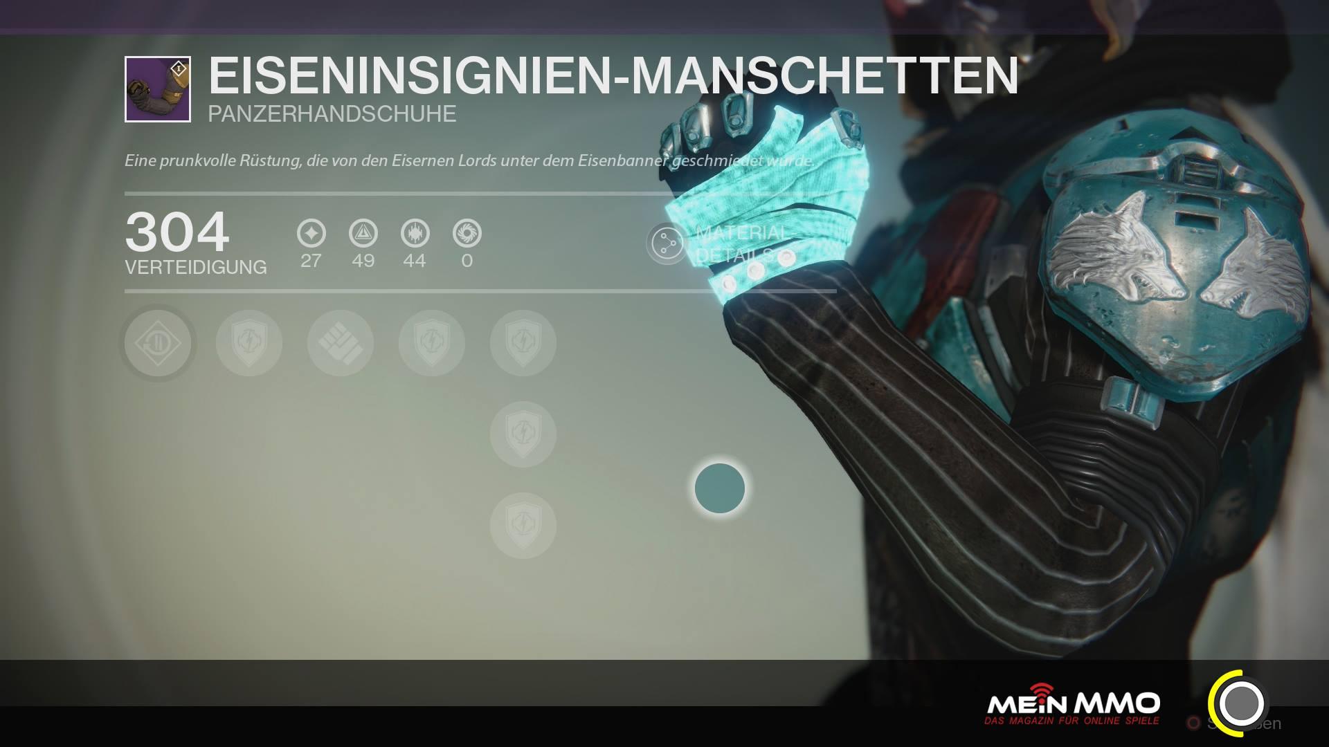Destiny-Eiseninsignien-Mansch