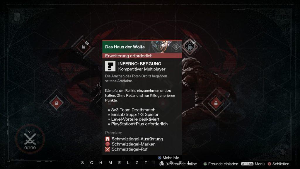 Destiny-Inferno-Bergung