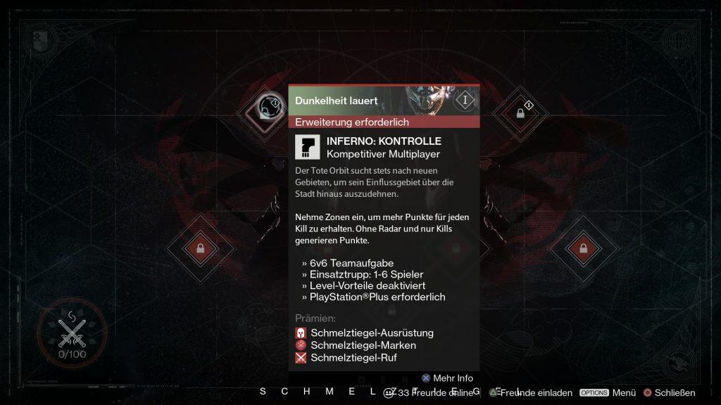 Destiny-Inferno-Kontrolle