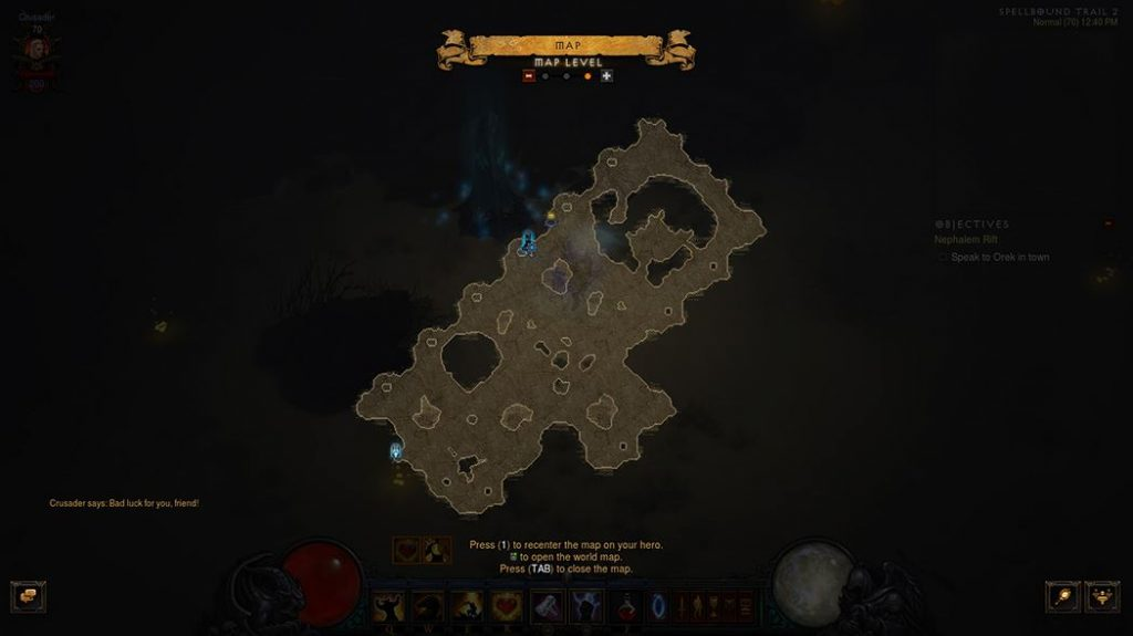 Diablo Abenteuermodus Layout