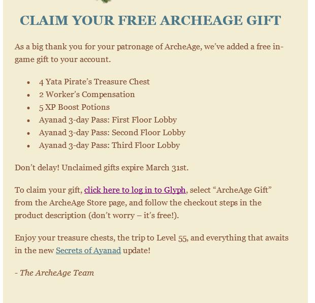 ArcheAge-Silber-Angebot