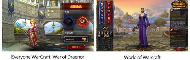 Everyone Warcraft - Vergleich World of Warcraft