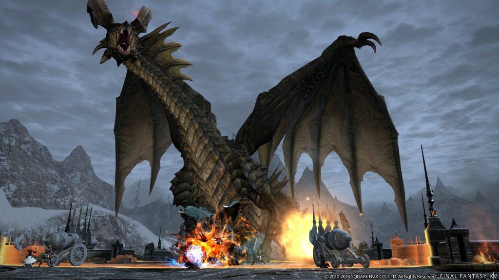 Final-Fantasy-Drachen-gegen-Technik