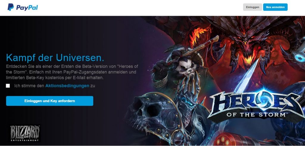 Heroes of the Storm Paypal