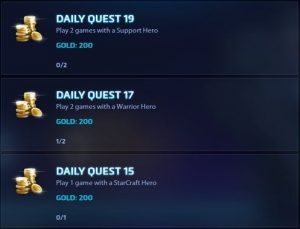 Hots Daily Quests