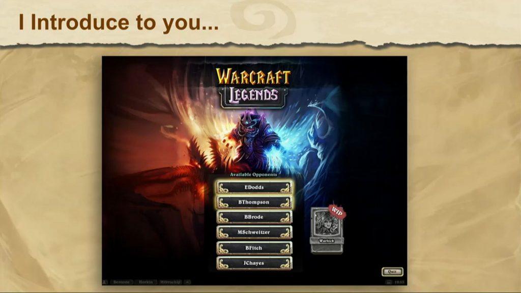 Warcraft Legends Hearthstone
