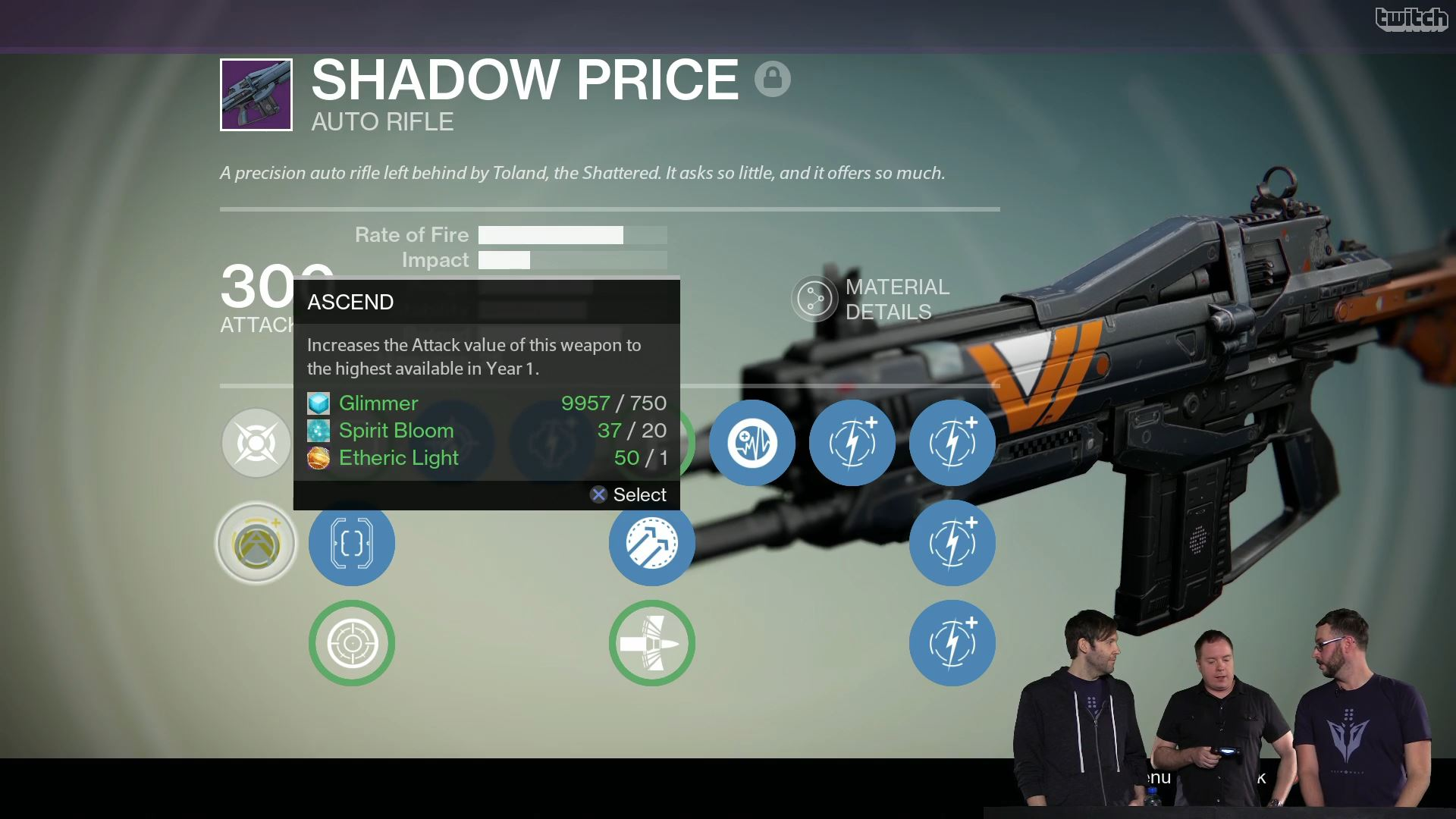 Destiny Upgrade Shadow Price