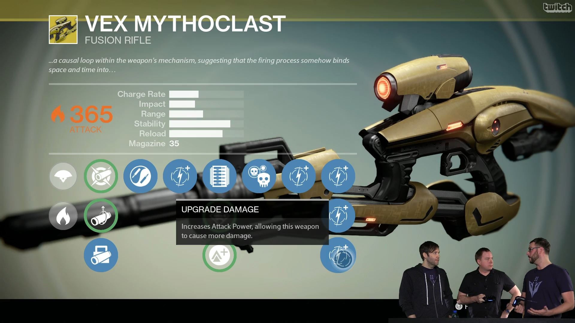 Destiny Vex Mythoclast Upgrade