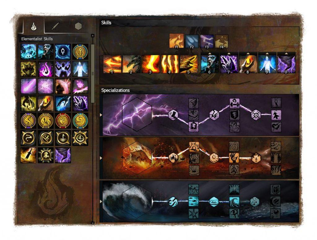 Guild Wars 2 Spezialisierungen