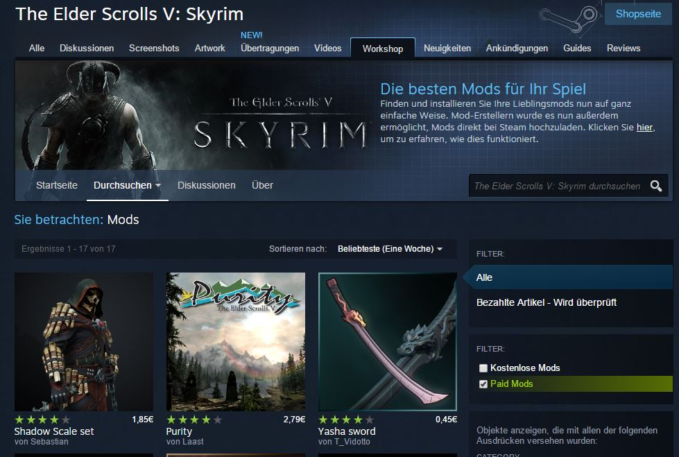 Steam Workshop Skyrim