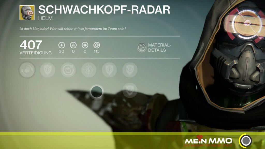 Destiny-Schwachkopf-Radar