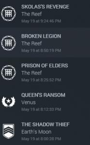 Destiny-Zeitplan
